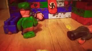 Мультфильм из пластилина. Война (серия1)