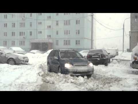 Чехов под снегом. Часть 1. застрял автомобиль