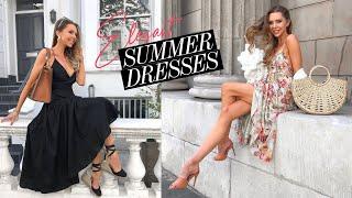 SUMMER DRESS HAUL & TRY ON // Zara, Mango, H&M