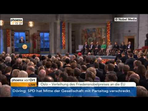 Verleihung des Friedensnobelpreis