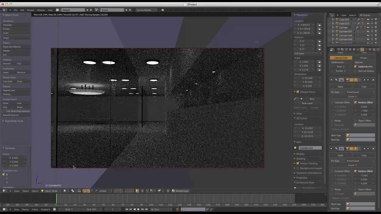 Blender speed modeling modern house interior part 1 for Modern house 8 part 3