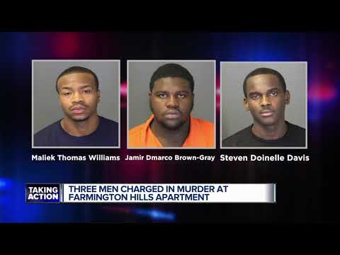 Three suspects arrested in Farmington Hills apartment complex shooting