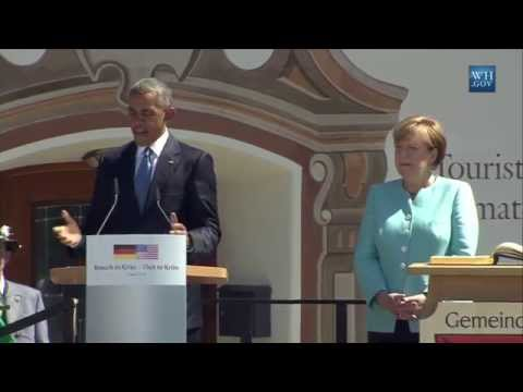 Obama In Germany With Chancellor Merkel - Full Speech
