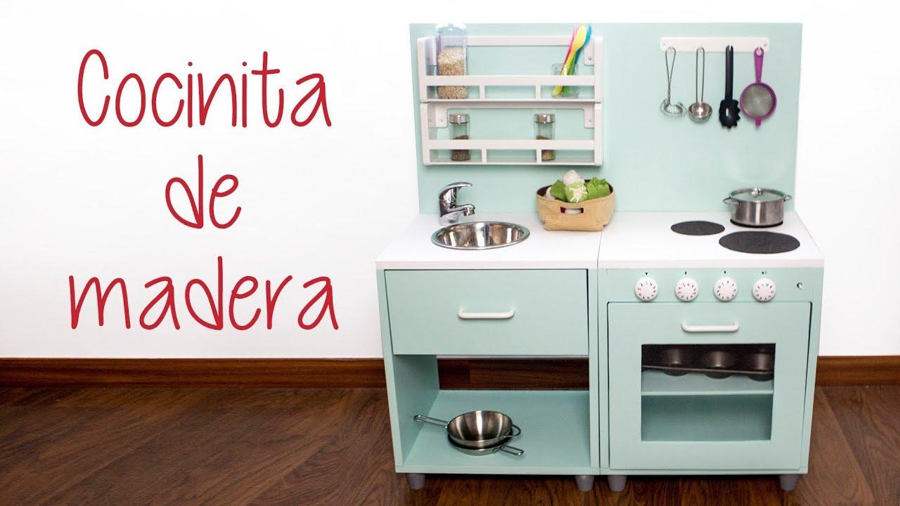 Cocinita De Madera Con Mesitas Recicladas Diy Hazlo Tú Mismo Youtube
