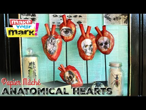 How to: Paper Mâché Anatomical Hearts
