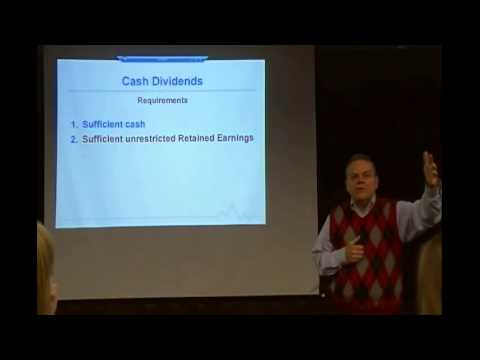 Chapter 14 Lecture:  Corporations -- Retained Earnings (Spring 2013)