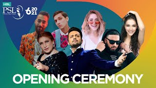 HBL PSL 6 Opening Ceremony feat. Atif Aslam | Naseebo Lal | Aima Baig | Imran Khan | Young Stunners