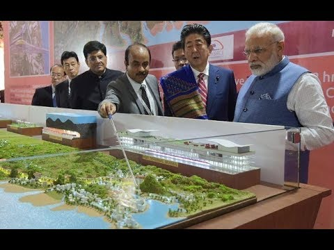 Modi, Abe lay foundation stone for India's first bullet train