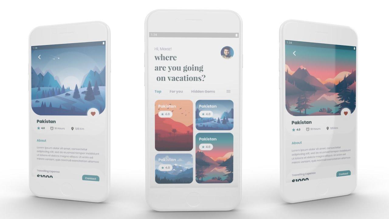 Flutter Travelling Mobile App UI Design Speed Code