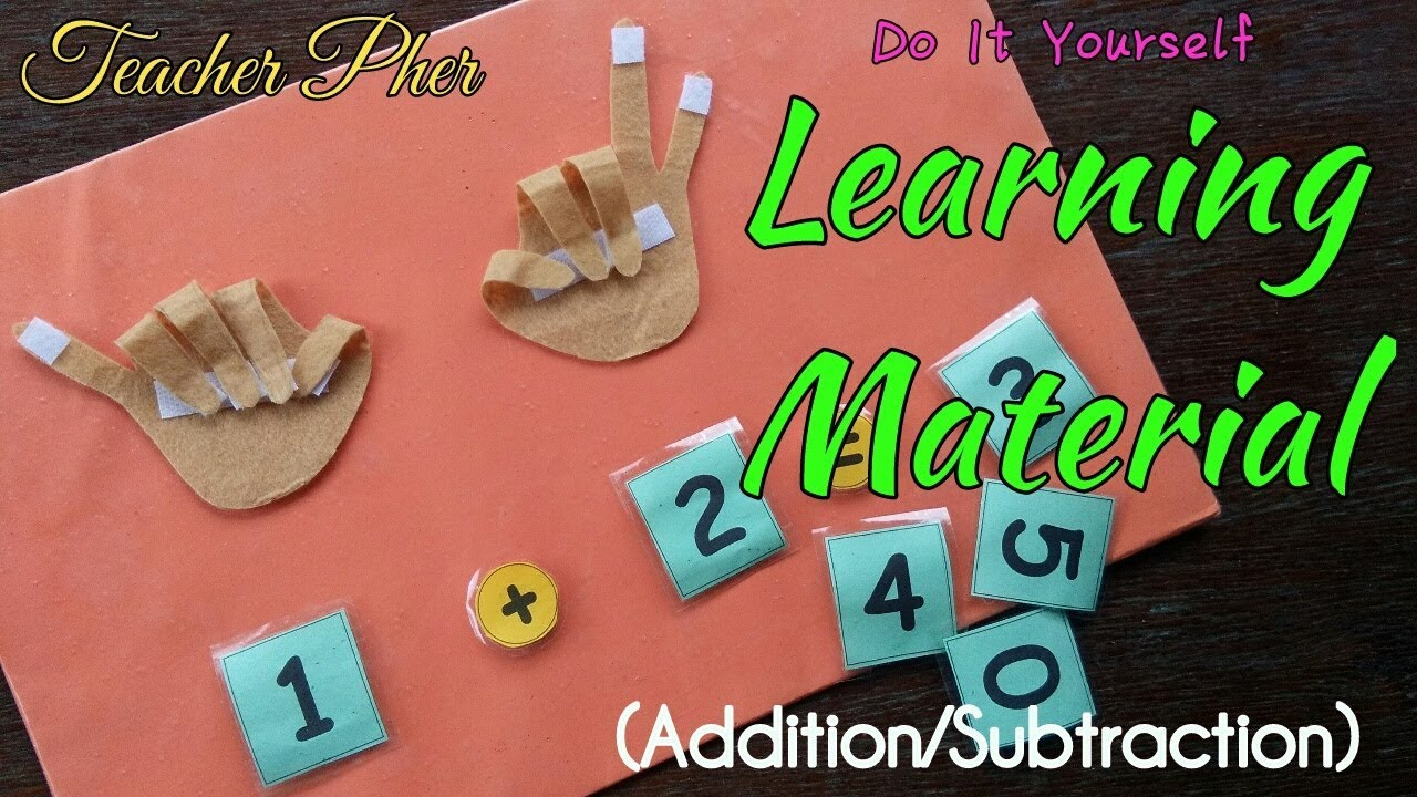 EASY TO DO DIY Learning Material (Addition/Subtraction)