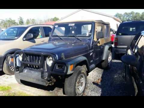 1997 jeep wrangler sport for sale in n charleston sc youtube. Black Bedroom Furniture Sets. Home Design Ideas