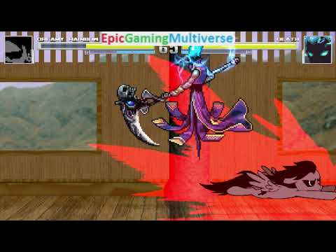Death VS Dreamy Rainbow On The Hardest Difficulty In A MUGEN Match / Battle / Fight