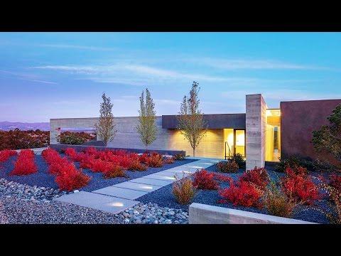 Ridgetop Modern Contemporary Concrete Luxury Residence in Santa Fe, New Mexico, USA