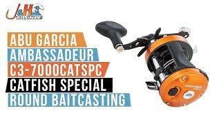abu garcia ambassadeur c3 7000catspc catfish special round baitcasting   j tackle