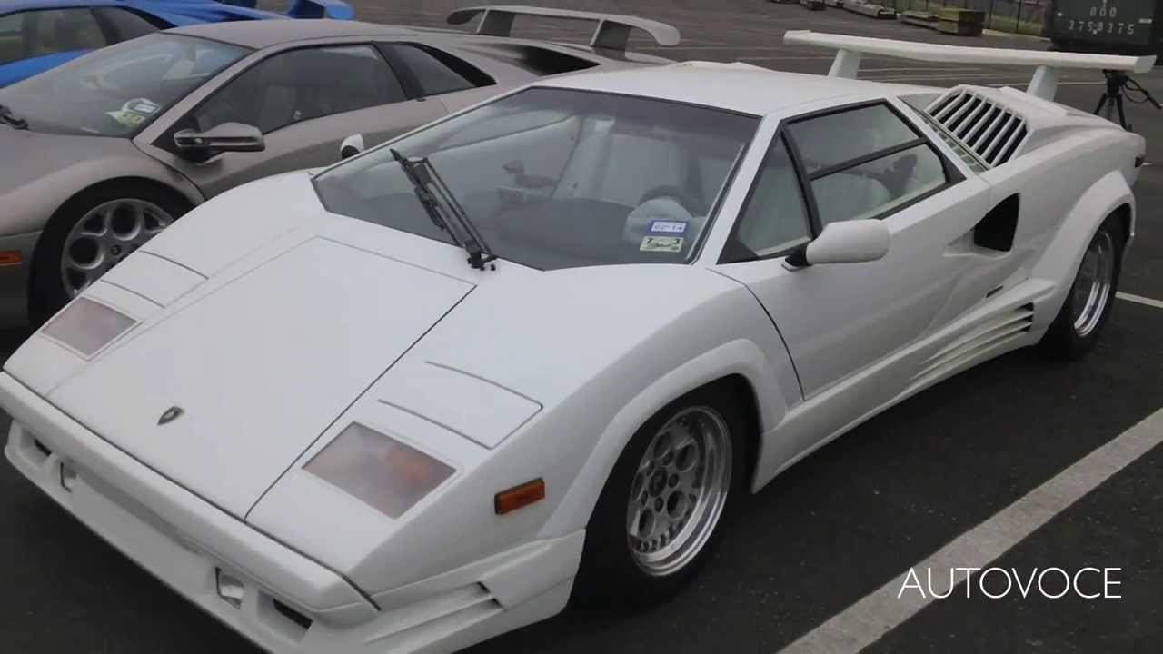 white 25th anniversary lamborghini countach start walk around youtube. Black Bedroom Furniture Sets. Home Design Ideas