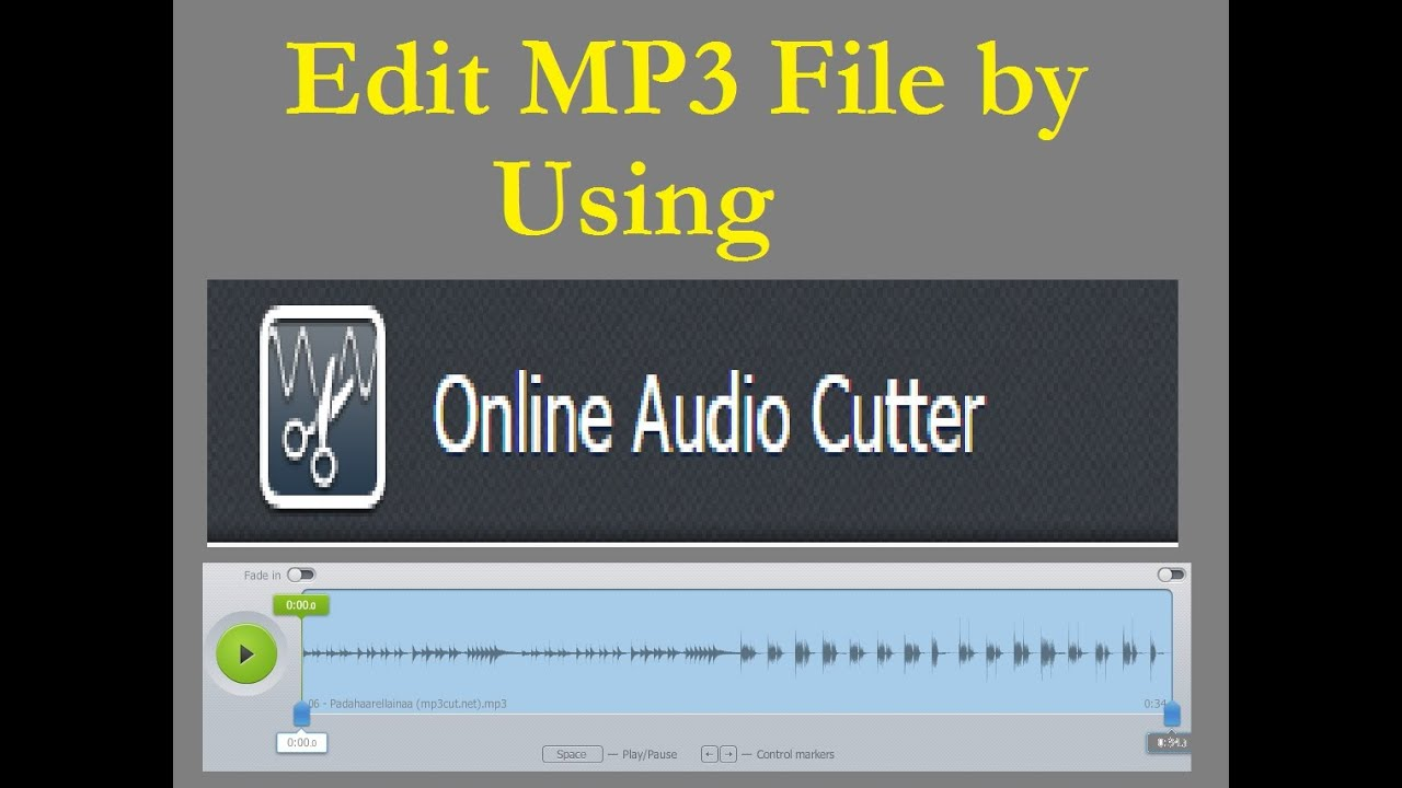 How To Edit Mp3 Songs By Using Online Audio Cutter Website Youtube