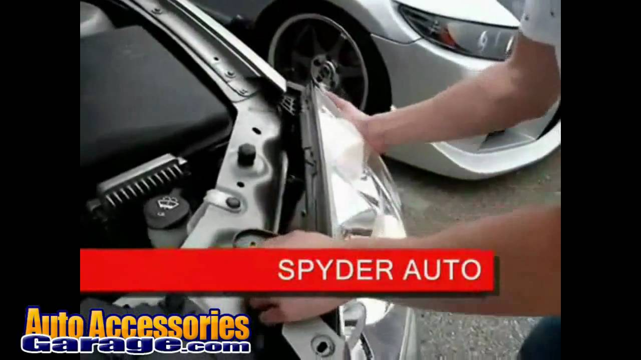 Spyder Headlight Installation On Pontiac G6