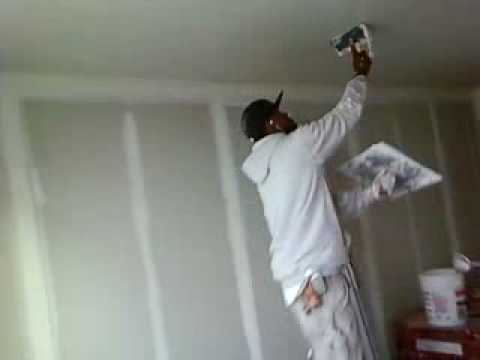 Plastering Concrete Ceilings Youtube