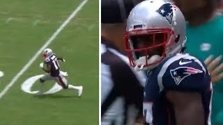 Antonio Brown FIRST CATCH From Tom Brady, DOMINATES On First Patriots Drive #NFL #Patriots Video