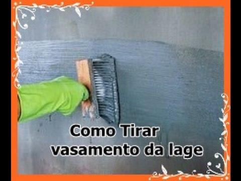 Como Eliminar vasametos e infiltrações em lage de concreto