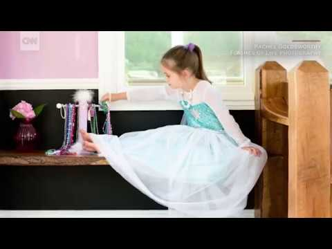 Dad builds daughters a dream house