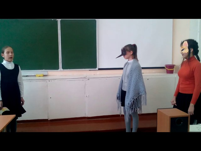Изображение предпросмотра прочтения – «Ворона и Лисица» читают произведение «Ворона и Лисица» И.А.Крылова