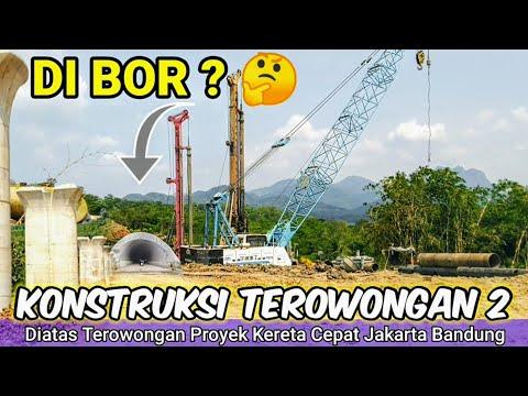 DI B0R? Inilah Bagian Atas Terowongan Proyek Kereta Cepat Jakarta Bandung KCIC 2021