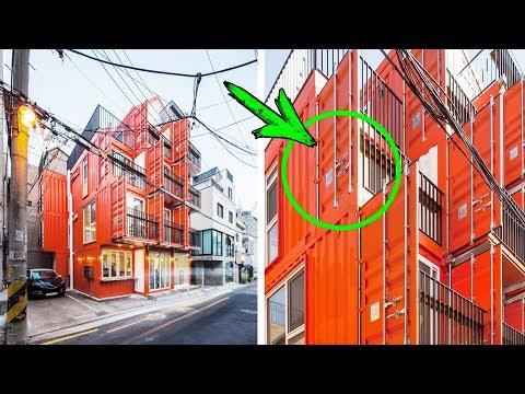 Видео: Издалека это ОБЫЧНЫЙ ДОМ! Но если приглядеться можно заметить, что ДОМ построен из КОНТЕЙНЕРОВ!