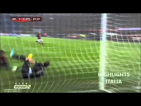 Milan 3-1 La Spezia - Highlights & All Goals HD - Ampia Sintesi - Tim Cup 2013/2014