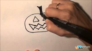 Como desenhar uma abóbora