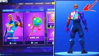 "NEW ""BRITE GUNNER"" SKIN IN FORTNITE BATTLE ROYALE! (UNLOCKED THE BRITE BAG FINNALY!)"