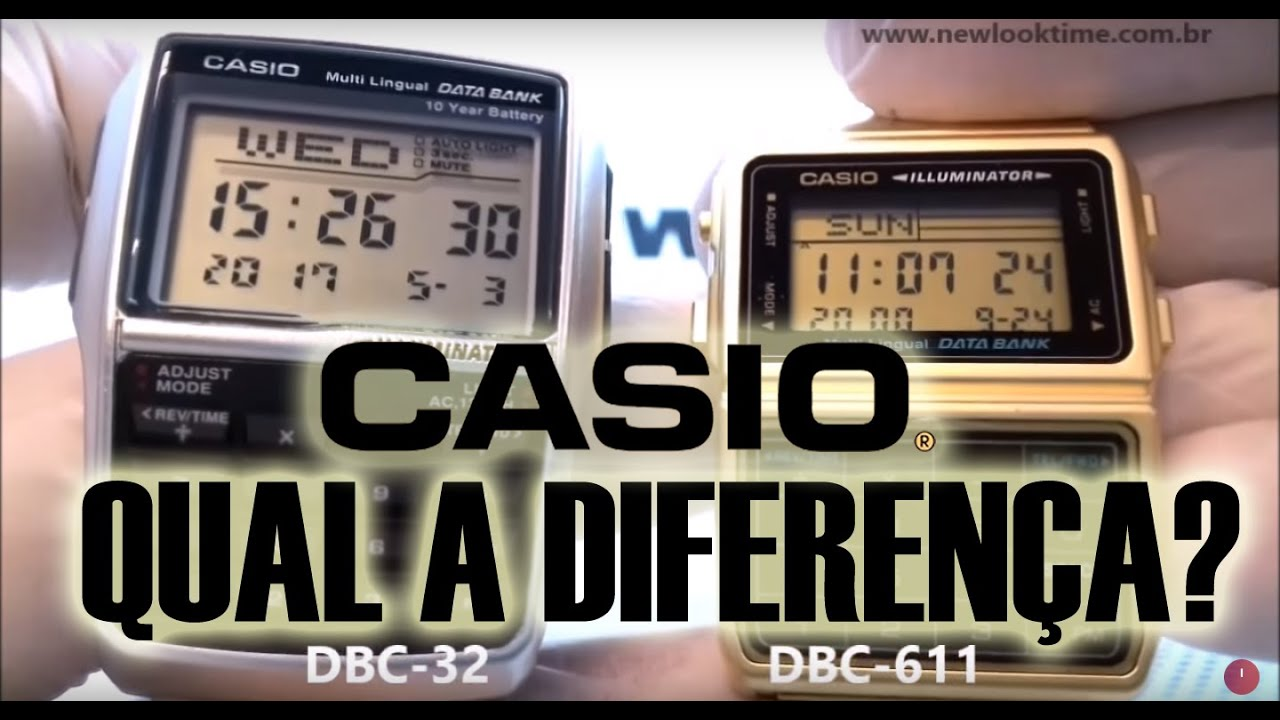 7f58cdb12af Comparação dos Relógios CASIO DBC-32 e o DBC-611 - New Look Time Relógios