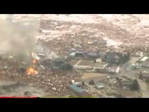 Quan sát Sóng thần sau trận động đất Nhật Bản từ ngoài biển vào trong thành phố Fukusima 11 03 2011