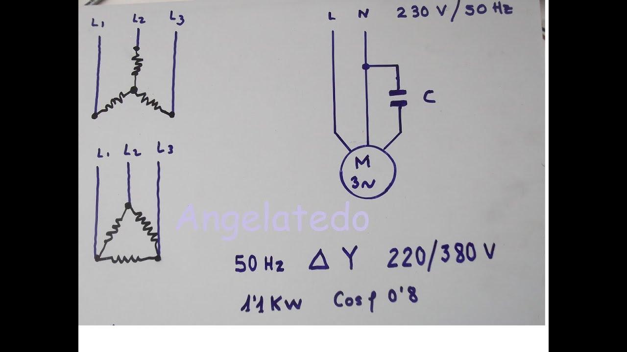 Cómo Conectar Un Motor Trifásico 220 380v A 220 V Monofásico Con Condensador Youtube