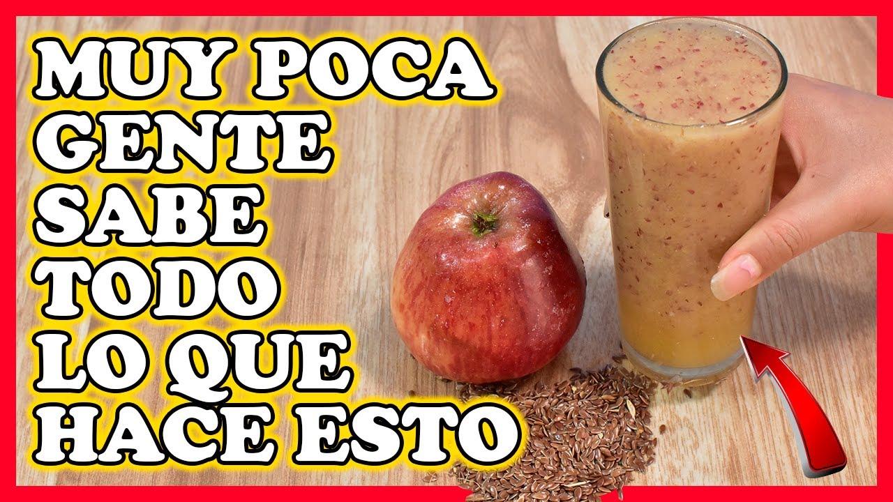 Desinflama el HIGADO, PANCREAS y RIÑONES con el Jugo de Manzana y Linaza