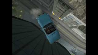 GTA San Andreas Funny falls from the top of San Fierro Tower