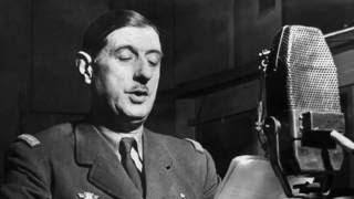 Général de Gaulle chante la Marseillaise