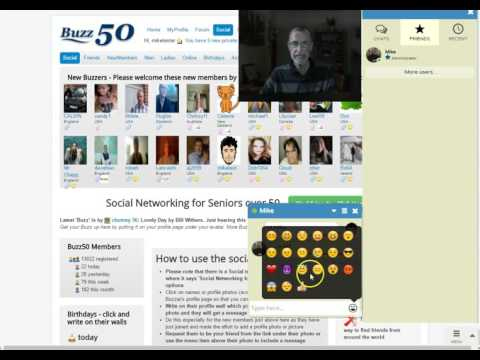 Buzz50 Over 50s 1-2-1 Chat Room System