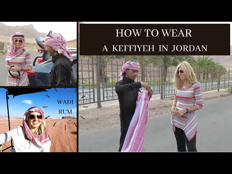 How to wear a Keffiyeh at Wadi Rum