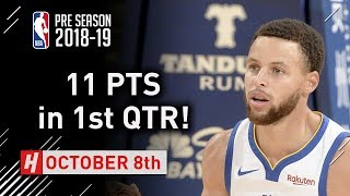 Stephen Curry Full Highlights Suns vs Warriors - 2018.10.08 - 11 Pts, 3 Ast in FIRST QUARTER!