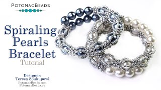Spiraling Pearls Bracelet - DIY Jewelry Making Tutorial by PotomacBeads
