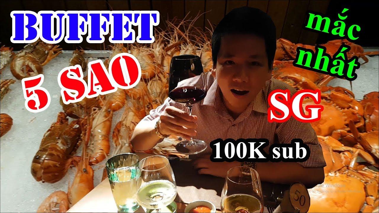 Hai lúa lần đầu đi ăn Buffet 5 sao hải sản mắc nhất Sài Gòn – Mừng 100K sub youtube