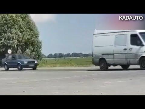 Когда очень жарко (+35 ℃), а кондиционера в машине нет. Пробка на Окружной в Калининграде. 26.06.19