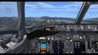 Korean air 1024 B737-800w RKPK very soft landing,fsx,pmdg 737ngx