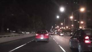 Chicago: Lake Shore Drive  at Night - Southbound REMIX