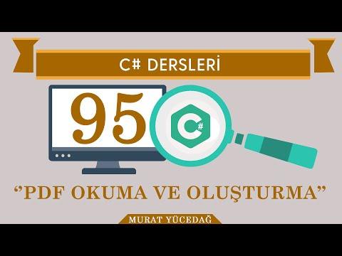 C# Ders 95 Pdf Okuma ve Oluşturma
