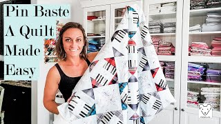 How To Pin Baṡte Your Quilt Sandwich