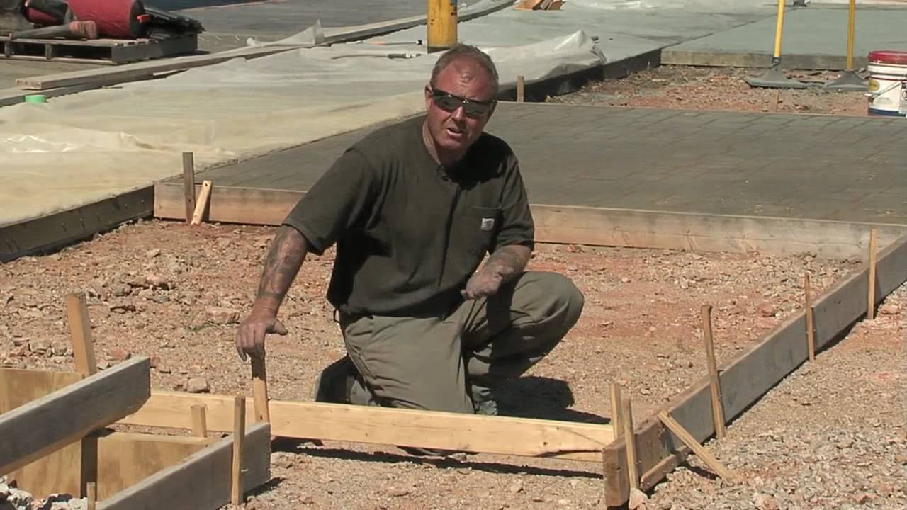 Concrete Forms Forming Concrete With Wood Forms Youtube