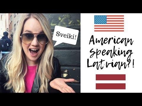 American Girl Tries To Speak Latvian | Living In Riga, Latvia