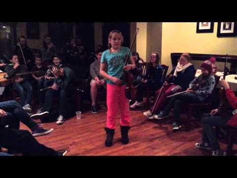 Irish Story Telling by Trad Youth Exchange member at Harrington's
